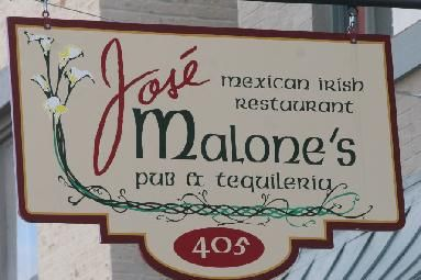 Jose Malone's a Mexican-Irish restaurant