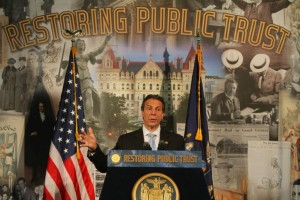 Governor Cuomo has criticized the influence of money in politics, but his public campaign finance program was unable to pass.