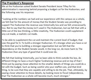 presidents response