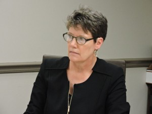 Barbara Nelson, chairperson of the Troy Planning Commission, led the approval of the site plan for Hudson Valley student housing on Thursday. Photo by Tyler McNeil