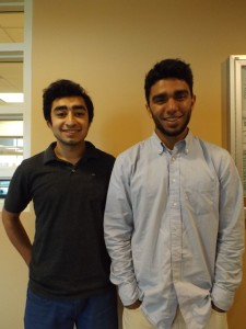 Muslim Student Association Saad Tai (left) and Secretary Azmad Din (right) hope to spread awareness about Islam on campus this year. Photo by Marison Topinio.