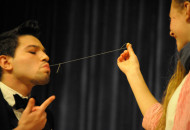 Alejandro Torres won third place for permorning his magic act at the talent show. Photot by Konrad Odhiambo