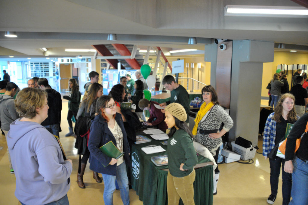 Prospective students packed the campus to receive information at Saturday's open house. Photo by Konrad Odhiambo. (2)