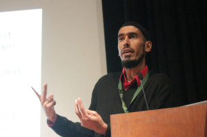 Sohaib Chekima led a discussion about the peaceful teachings of Islam on Oct. 28. Photo by Tyler McNeil