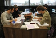 Experts on campus recommend not cramming for finals but studying over a period of time. Photo by Tyler McNeil