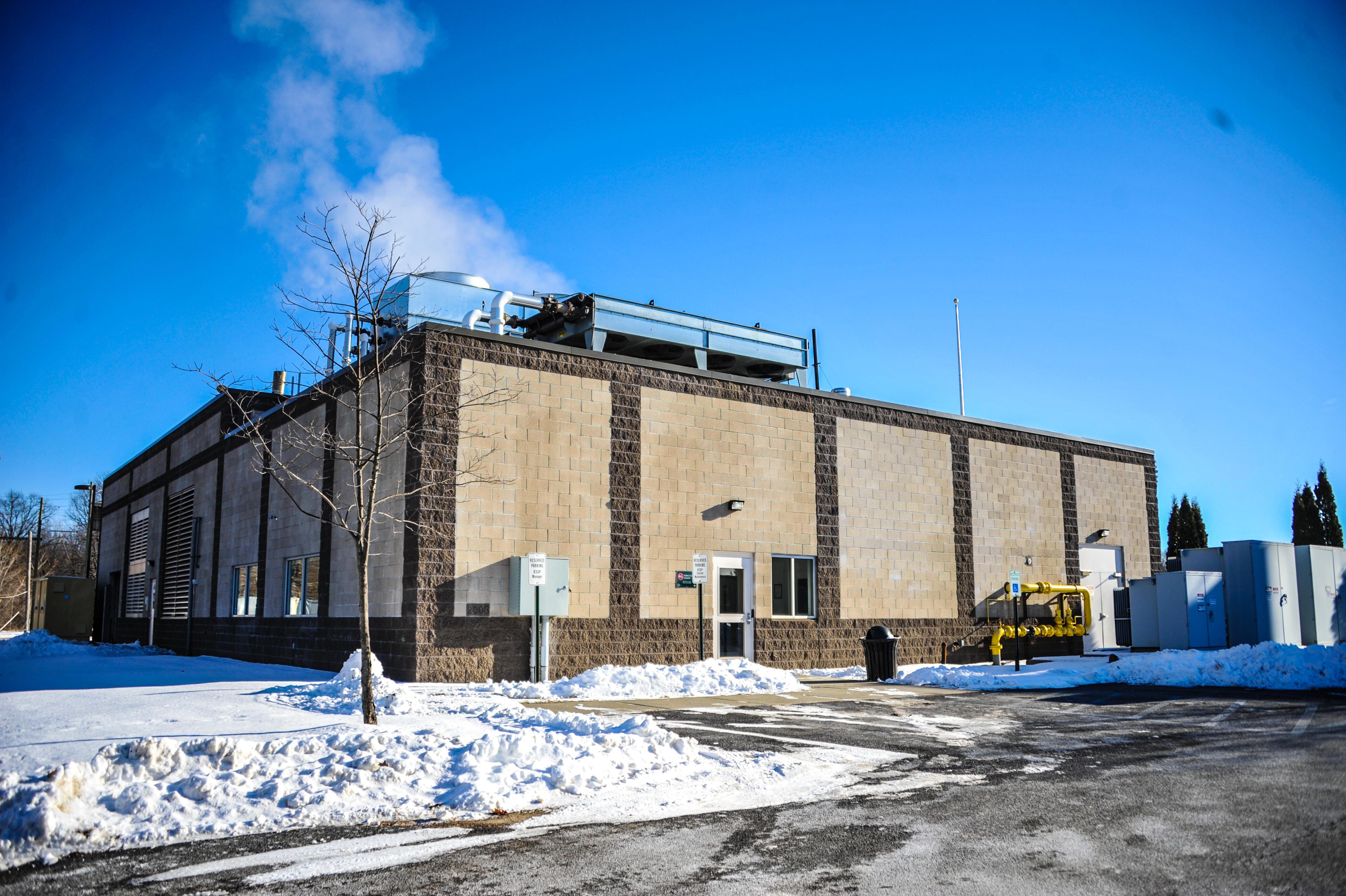 The power generator behind Joe Bruno stadium has been in use since 2003.