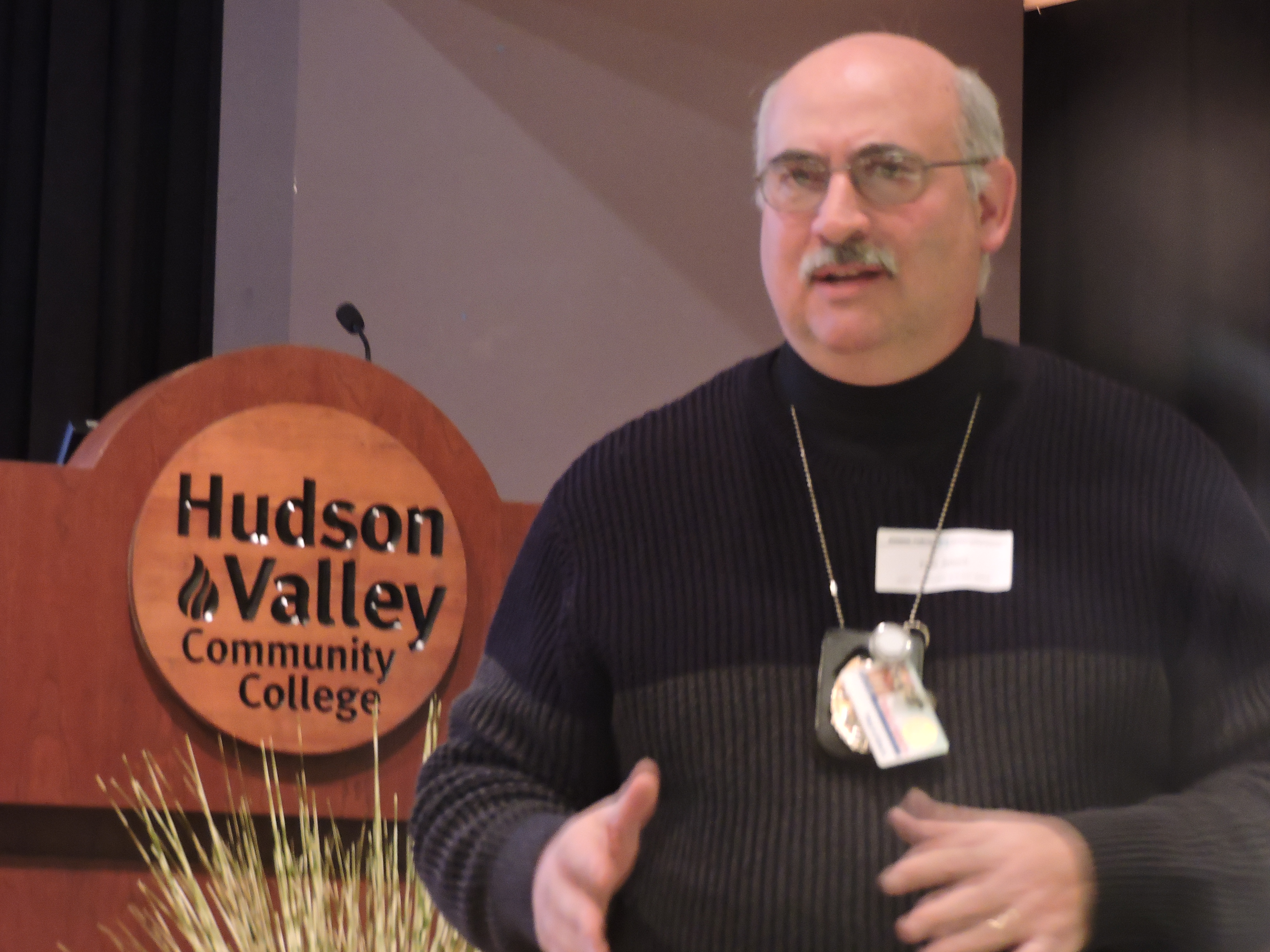 Fred Aliberti, Hudson Valley's director of public safety, spoke about the recent changes in SUNY sexual assault response policies at the conference.