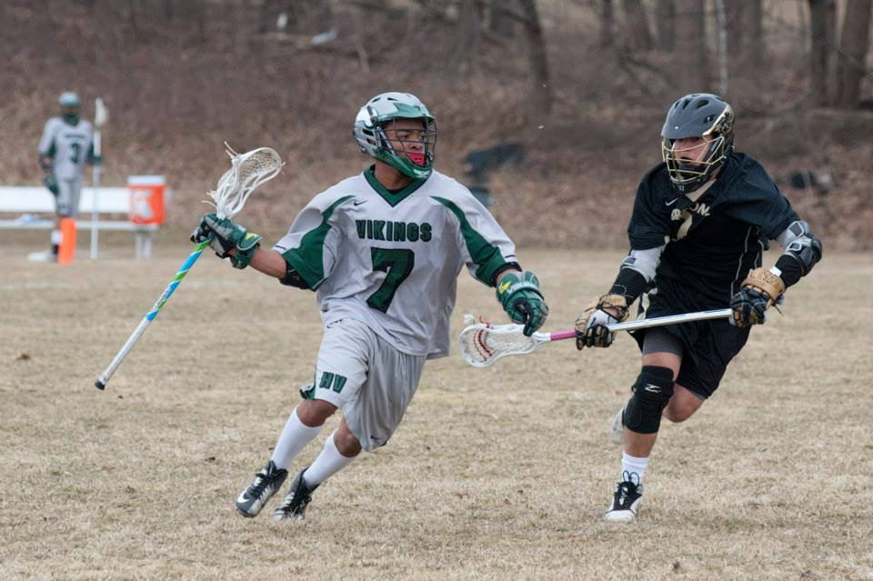 Assistant Captain Victor Terry and the Vikings lacrosse team look to improve under new Head Coach Matt Johnson after a frustrating season last year Photo courtesy of hvcc athletics