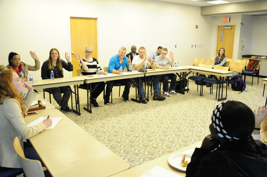 The student senate meets every Monday at 2 pm to discuss campus initiatives and vote on issues. Photo by Konrad Odhiambo