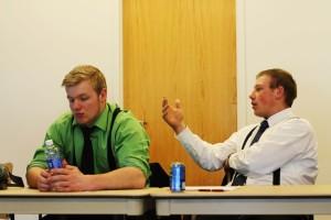 Student Senators Jordan Neves and Adam Day