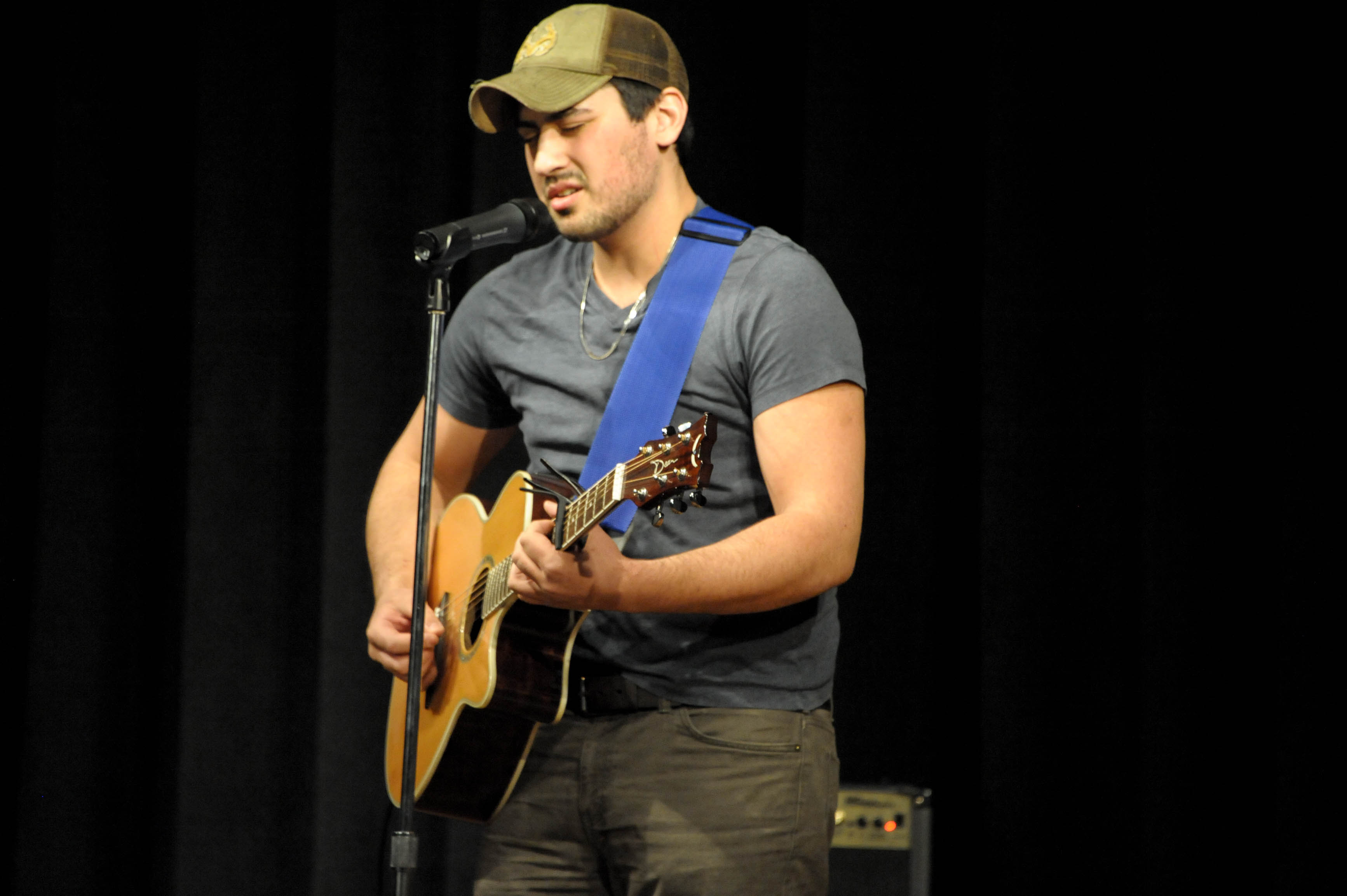 Trevor Henderson won the talent show for his rendition of -Talledega- by Eric Church. photo by Konrad