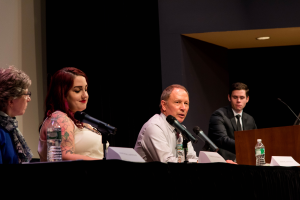 Panelists discuss body art at the end of lecture series
