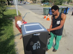 Physical Plant invests in energy efficient garbage cans