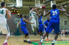 Men's Basketball storms the Raiders