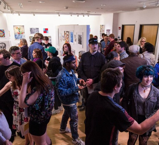 Student art draws crowd