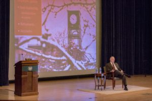State of college addressed at all college meeting