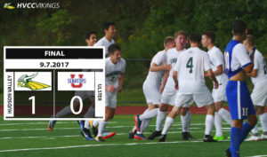 Men's soccer team rallies to win first home game