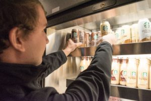 Starbucks Double Espresso Shot energy drinks, sold in the campus center, are a staple for any caffeine addict.
